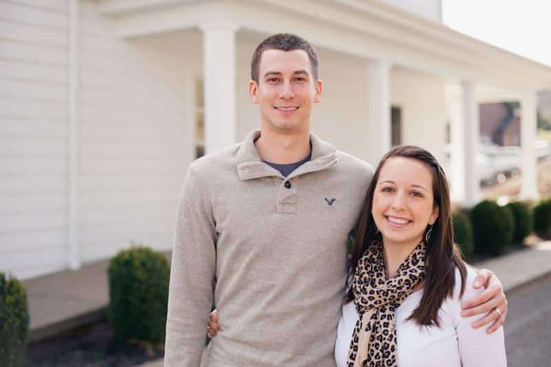 Eric & Stephanie in front of their new home